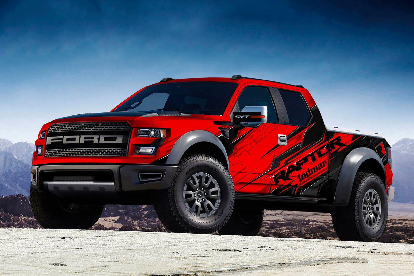 Ford F150 20152017 Predator truck bed graphics decal